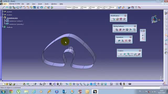 ترفندی در محیط Imagine and Shape در CATIA