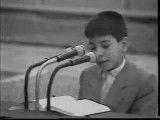 تلاوت بی نظیر شیخ حامد شاکرنژاد در سنین کودکی در محضر امام خامنه ای