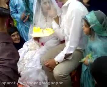 کلیپ سیلی زدن داماد به عروس