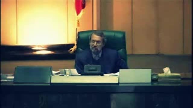 فیلم منتشر نشده از دعوای لاریجانی با احمدی نژاد در مجلس