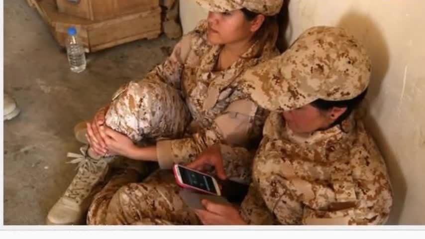 تصاویر دختران کورد پیشمرگه در جنگ علیه داعش-عراق-سوریه