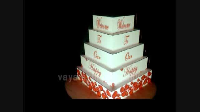 اولین کیک عروسی موزیکال در تهران عرضه شد