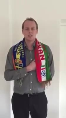 سرود ملی ای ایران از جوان سوئدی بمناسبت بازی ایران سوئد