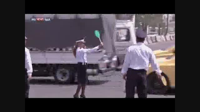 زنان پلیس راهنمایی رانندگی در بغداد