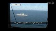فیلم اخطار به ناوهای خارجی/ تصاویر خروج از منطقه رزمایش