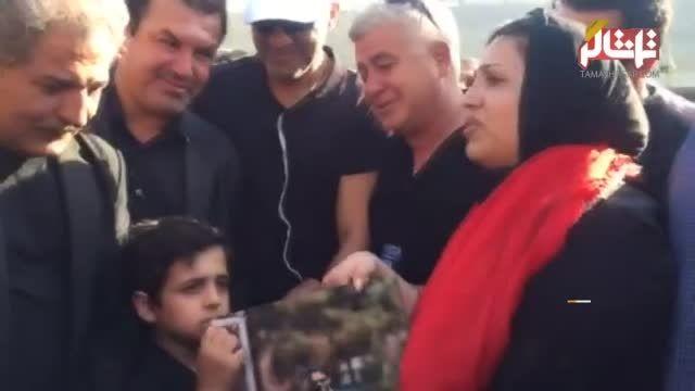 دختر هادی نوروزی با پدر وداع کرد