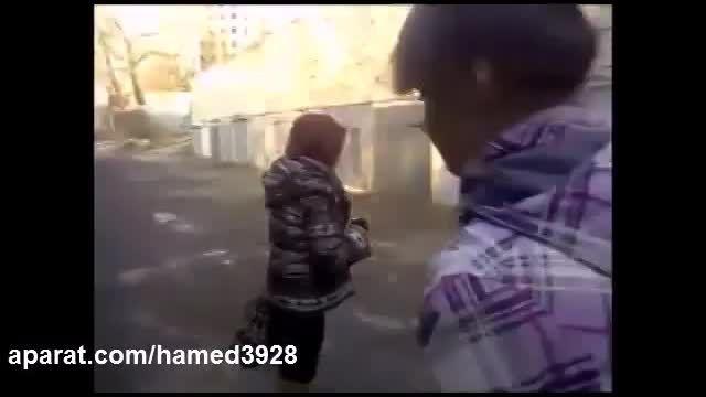 کتک خوردن دختر