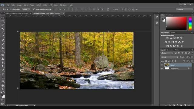 آموزش انداختن تصویر در متن در فوتوشاپ