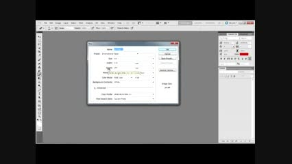 تعیین سایز و تغییر سایز صفحه طراحی در فتوشاپ