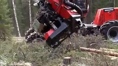 تکنولوژی جالب قطع درختان
