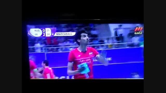 برد ایران با نتیجه 3 - 0 در برابر روسیه والیبال