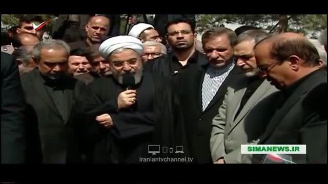 سخنرانی حسن روحانی در مجلس ترحیم مادرش