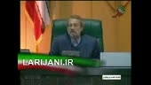 سخنان رئیس مجلس در جلسه استیضاح وزیر كار