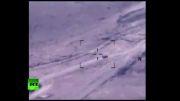 حمله هوایی ارتش امریکا به خودروهای جنگی داعش