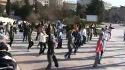 رقص جمعی زنان و مردان در پارک تهران