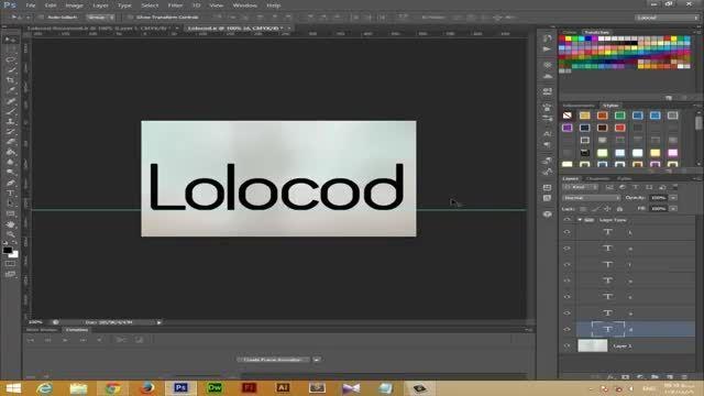 آموزش ایجاد لوگوی فلت حرفه ای لولوکد.آی ار