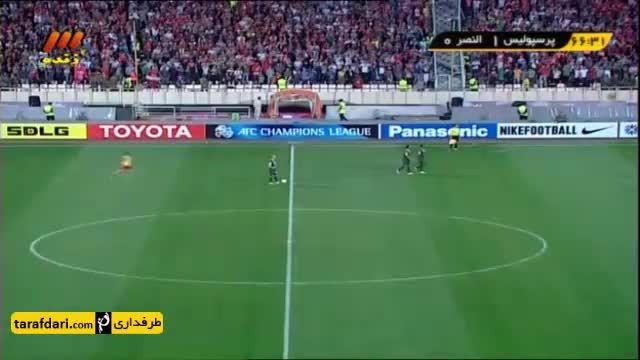 درگیری شدید بازیکنان پرسپولیس و النصر