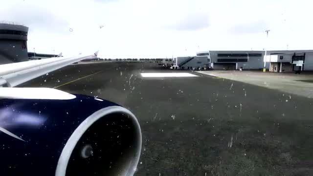 پرواز در هوای برفی از فرودگاه جان اف کندی نیویورک