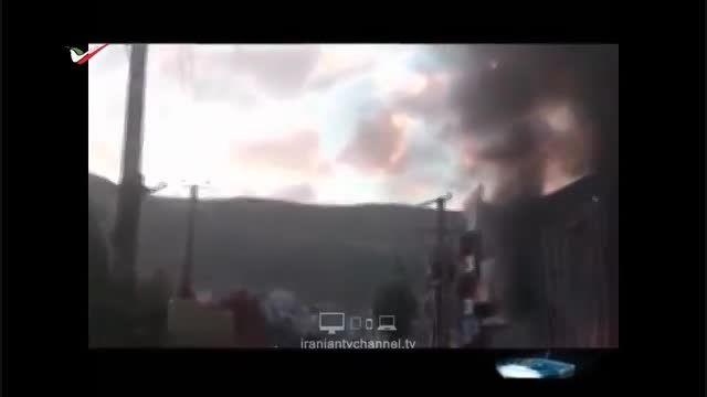 روایت حادثه آتش سوزی در مهاباد از زبان تلویزیون