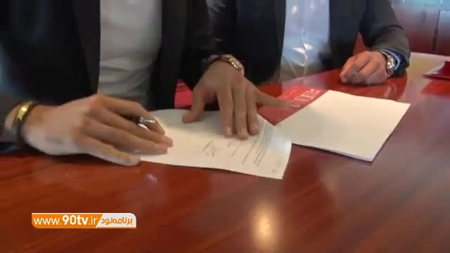 لحظه امضای قرارداد جهانبخش با آلکمار