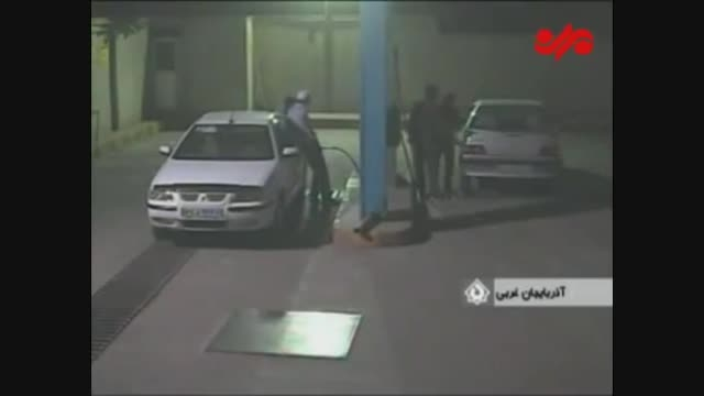 انفجار دیگر کپسول CNG هنگام سوخت گیری و پرت شدن راننده