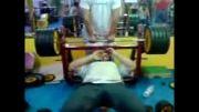 وزنه 180 در تمرین