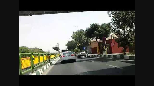 یک آئودی پلاک موقت در خیابان خاوران تهران