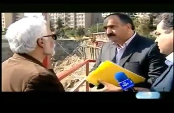 دعوا بر سر مقصر حادثه نشست 40 متری در شهرک غرب تهران