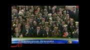 حضور احمدی نژاد در کنار تابوت رئیس جمهور فقید ونزوئلا