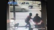 گوشی دزدید اما ماشین بدجور بهش زد