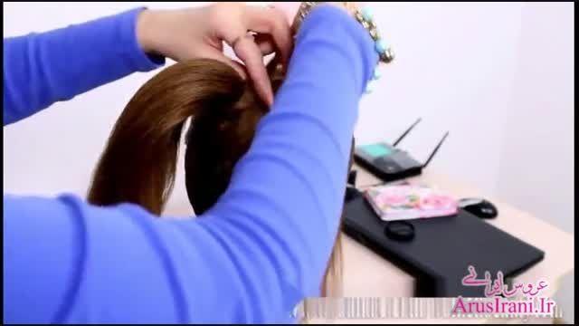 آموزش کامل مدل مو 22 - مدل موی عروس برای موهای متوسط