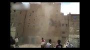 روشی عجیب برای تخریب ساختمان در یمن!!!