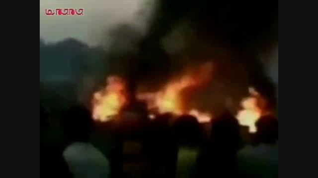 سقوط هواپیمای روسی در سودان فیلم گلچین صفاسا