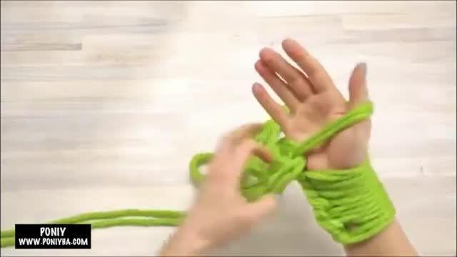 آموزش بافتنی ۳ (پونی)(شال با دست)