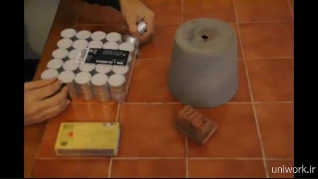 گرم کردن اتاق با شمع بدون نیاز به شوفاژ و بخاری