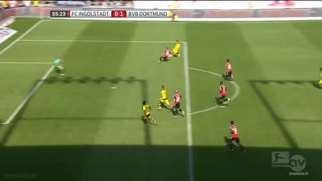 خلاصه بازی : اینگول اشتاد 0 - 4 دورتموند (بوندسلیگا)