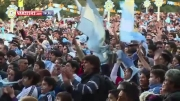 هواداران آرژانتین بعد از پیروزی مقابل هلند