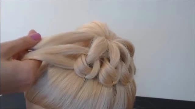 شینیون ساده برای موهای بلند