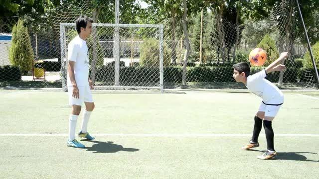 رونالدو یازده ساله تکنیک فوتبال ایران اصفهان!ازدست ندید