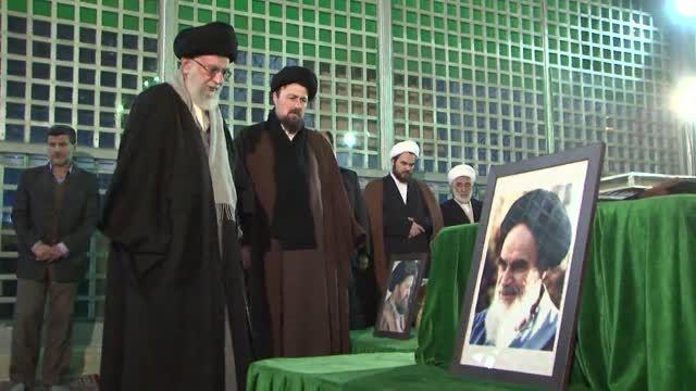 حضور رهبر انقلاب در مرقد امام راحل و گلزار شهدای تهران