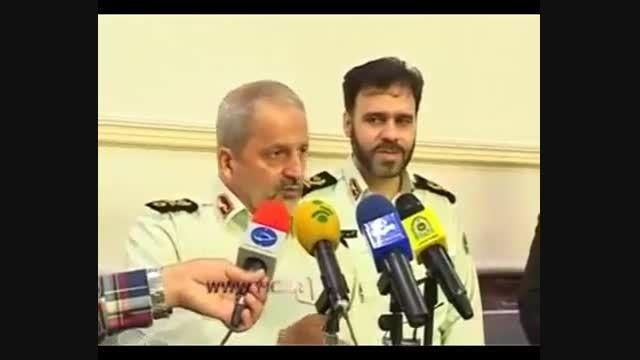 حمله ارازل و اوباش به ماشین فرمانده ناجا در کرج