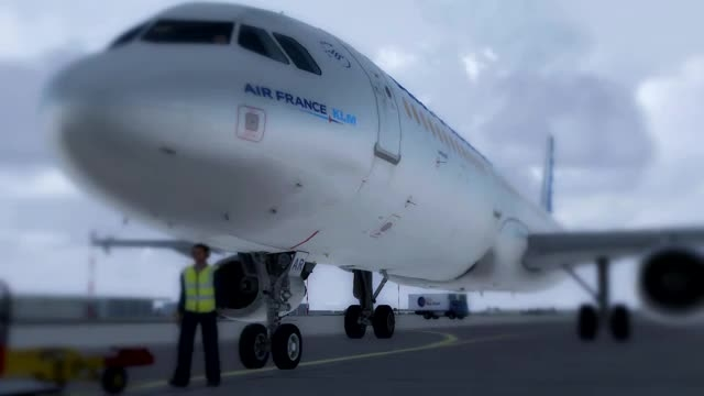 تصاویر حیرت انگیز پرواز ایرباس 320 فرودگاه شارل دوگل
