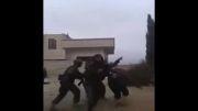 لحظه دستگیری سرکرده تروریست ها در یبرود سوریه......