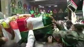 سنگ تمام عراقی ها برای تشییع شهید ایرانی مدافع حرم