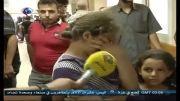 اشک های دختر فلسطینی در سوگ برادرش