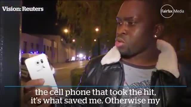 گلکسیS6 جان یک مرد را در حملات تروریستی فرانسه نجات داد
