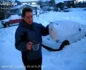 روش تهیه آسان برف زمستانی!