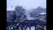 بارش شدید برف در مازندران (عکس های دیدنی از برف)