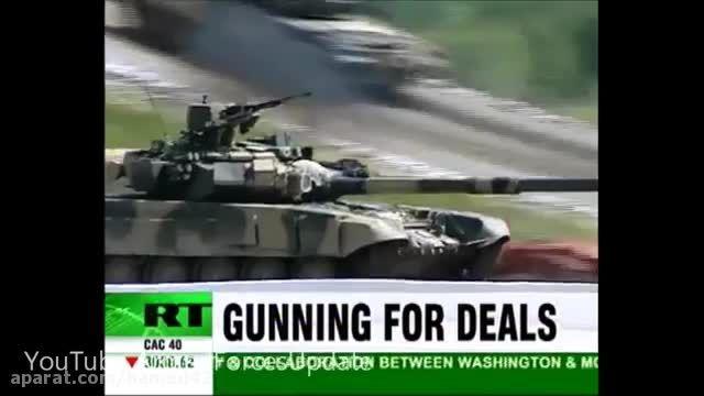 ارسال تانک های T-90 روسیه به مرز ترکیه