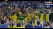 جشن قهرمانی برزیل در جام کنفدراسیون ها۲۰۱۳